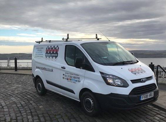 Scan Building Services Van with new Logo